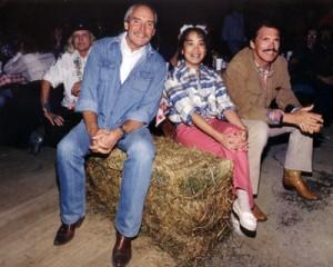 Sandy McPeak, Ramona LeBaron, and Chad Everett
