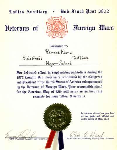 VFW-award