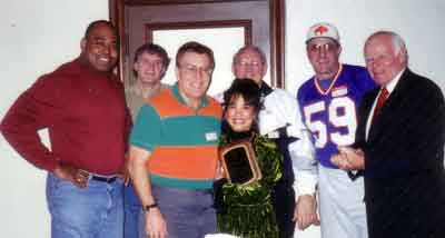 NFL Alumni Football Friends presented Ramona LeBaron (Me) with a special plaque