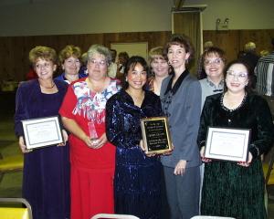 Ann Bryant, Christi Christian, Mary Thorp, Ramona Werst, Karen McDonald, Nina Hallmark, Gere Johnson, and Diane Madrid