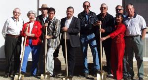 Mayor Frank Sandel, Imogene Jackson, Architect Jack Meek, Rhonda Holt, Warren Wilburn, Johnnie Gay, Charles Bobb, Ron Galloway, Ramona and David Werst